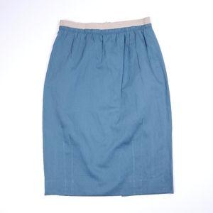 Lida Baday cotton pencil skirt w silk lining